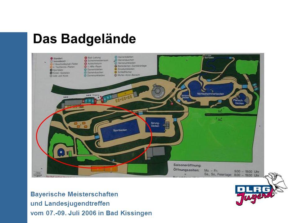 Das Badgelände Bayerische Meisterschaften und Landesjugendtreffen vom 07.-09. Juli 2006 in Bad Kissingen