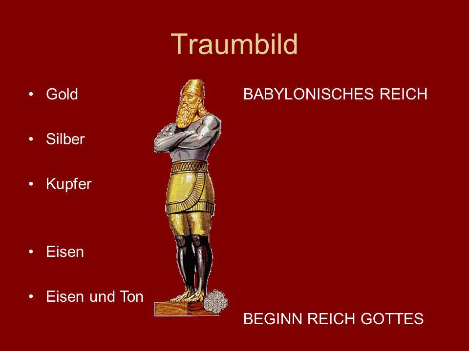 Traumbild Gold Silber Kupfer Eisen Eisen und Ton BABYLONISCHES REICH BEGINN REICH GOTTES