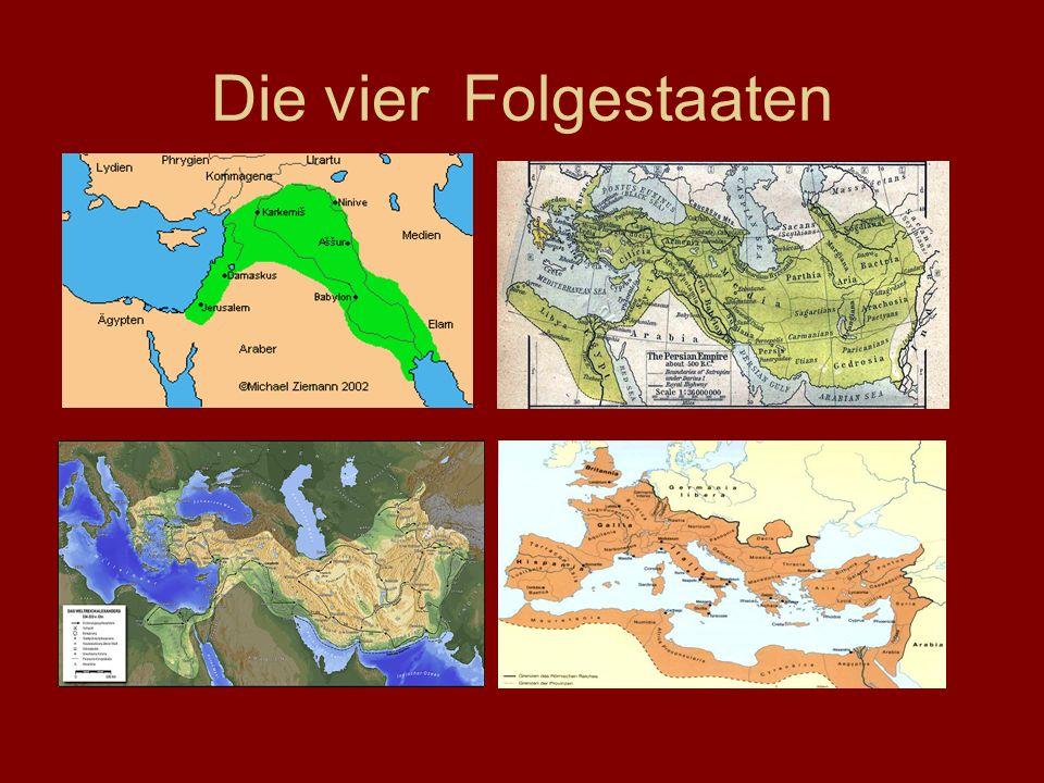 Die vier Folgestaaten