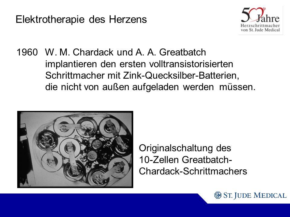 Originalschaltung des 10-Zellen Greatbatch- Chardack-Schrittmachers Elektrotherapie des Herzens 1960W.