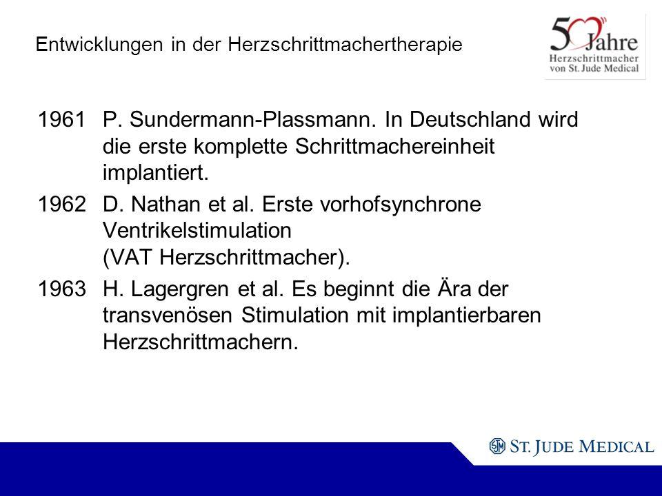 Entwicklungen in der Herzschrittmachertherapie 1961P.
