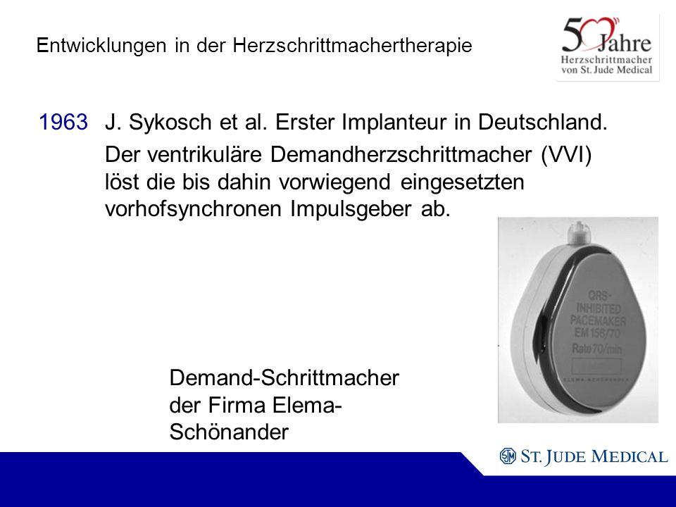 Demand-Schrittmacher der Firma Elema- Schönander Entwicklungen in der Herzschrittmachertherapie 1963J.