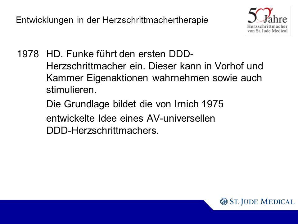 Entwicklungen in der Herzschrittmachertherapie 1978HD.