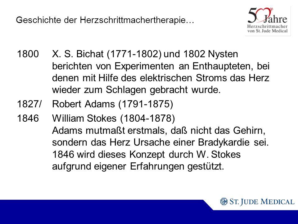 Geschichte der Herzschrittmachertherapie… 1800X.S.