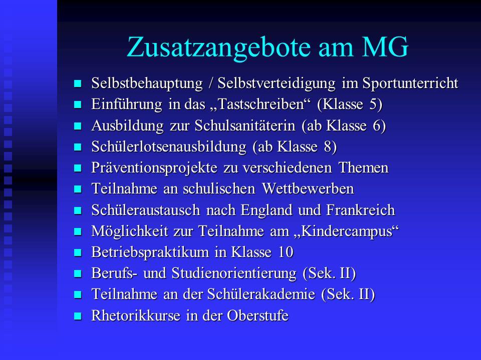 Zusatzangebote am MG Selbstbehauptung / Selbstverteidigung im Sportunterricht Selbstbehauptung / Selbstverteidigung im Sportunterricht Einführung in d