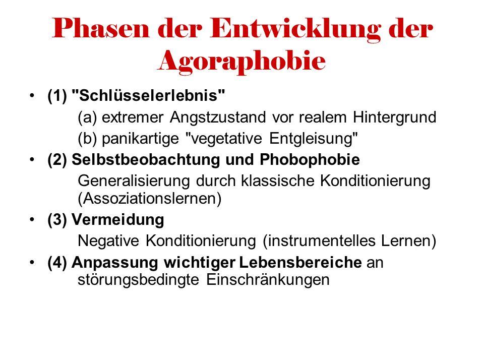Phasen der Entwicklung der Agoraphobie (1)