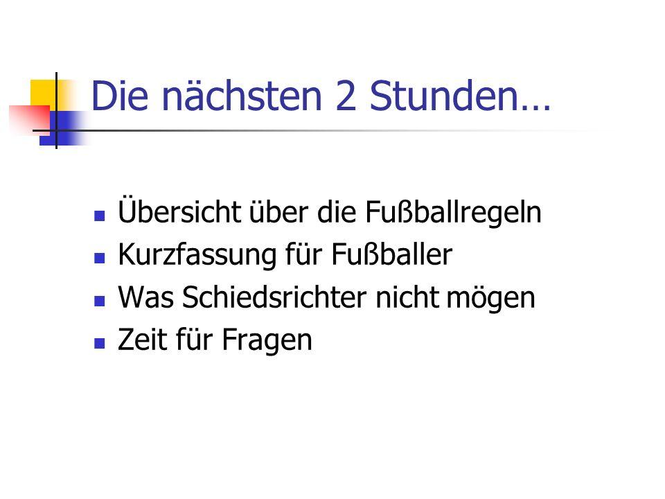 Die Fußballregeln werden zunächst von der FIFA festgelegt und nahezu jährlich verbessert dann vom DFB angeglichen und erweitert an die Landesverbände (FVM) weitergegeben und angeglichen an die Kreise weitergeben und angeglichen