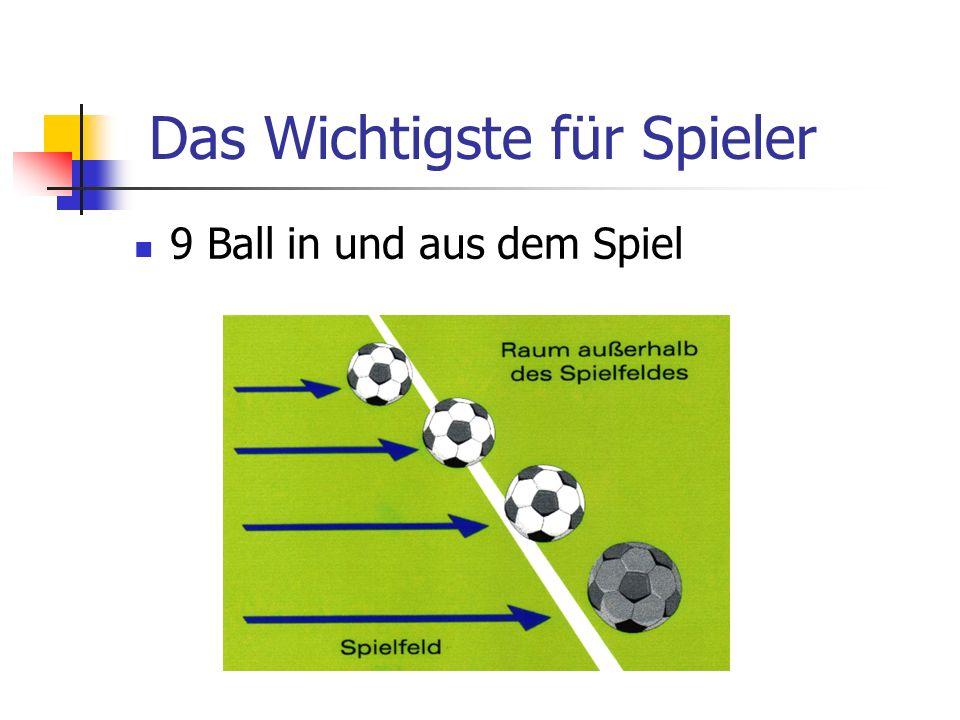 9 Ball in und aus dem Spiel