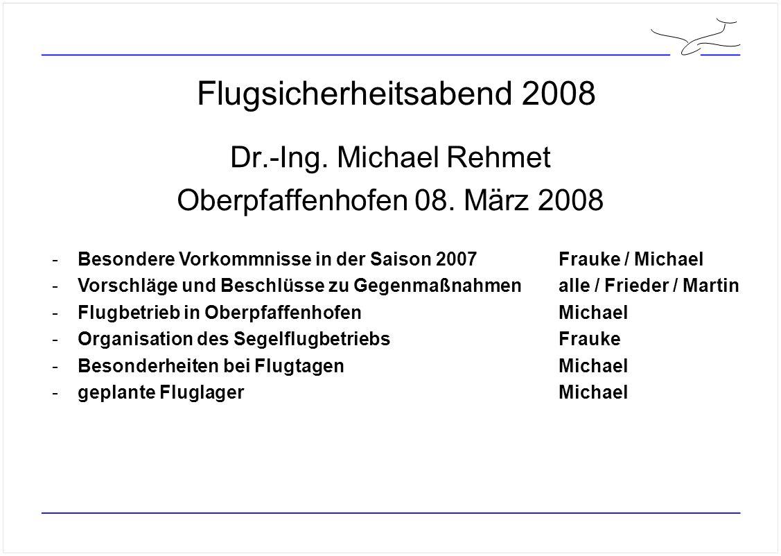 Besondere Vorkommnisse in der Saison 2007 Absturz der ASK16 nach dem Start in Kempten - Totalschaden