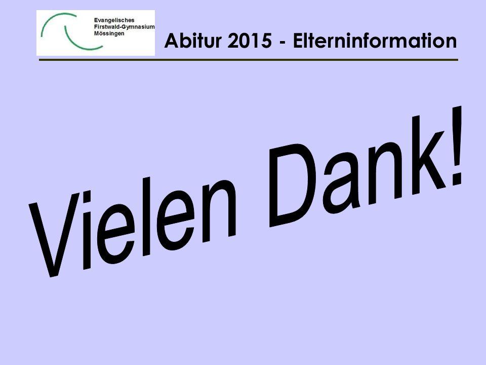 Abitur 2015 - Elterninformation