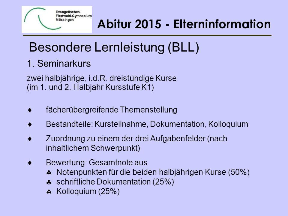 Abitur 2015 - Elterninformation 2.