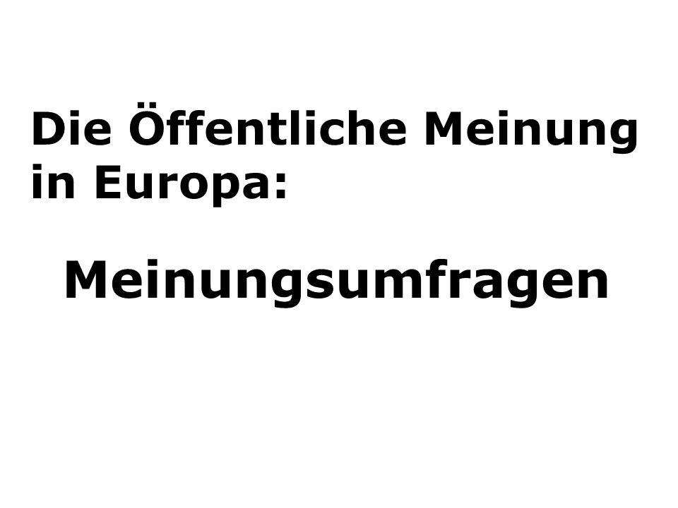 Die Öffentliche Meinung in Europa: Meinungsumfragen