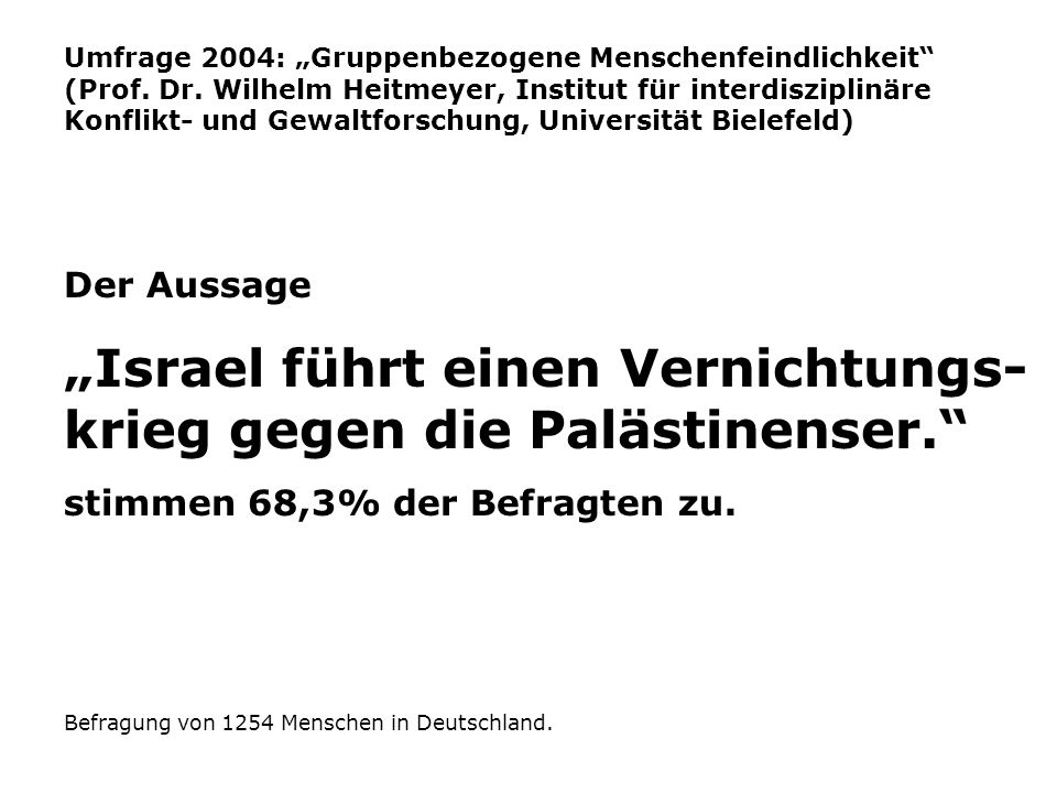 Umfrage 2004: Gruppenbezogene Menschenfeindlichkeit (Prof.