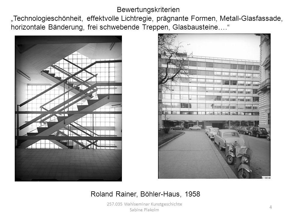 5 257.035 Wahlseminar Kunstgeschichte Sabine Plakolm Aktualität 1.