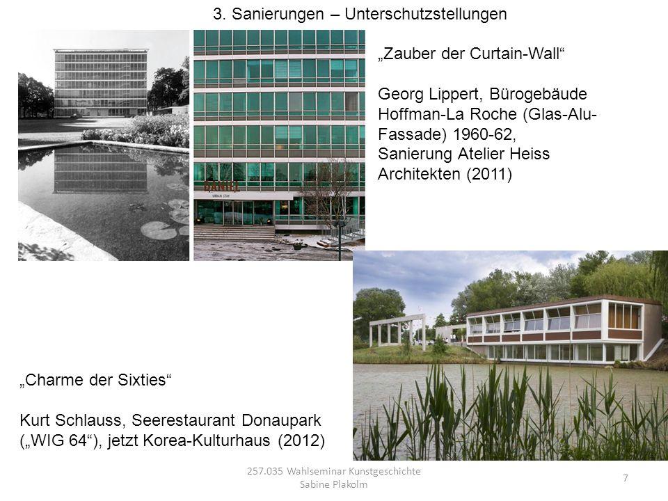 257.035 Wahlseminar Kunstgeschichte Sabine Plakolm 7 Charme der Sixties Kurt Schlauss, Seerestaurant Donaupark (WIG 64), jetzt Korea-Kulturhaus (2012)