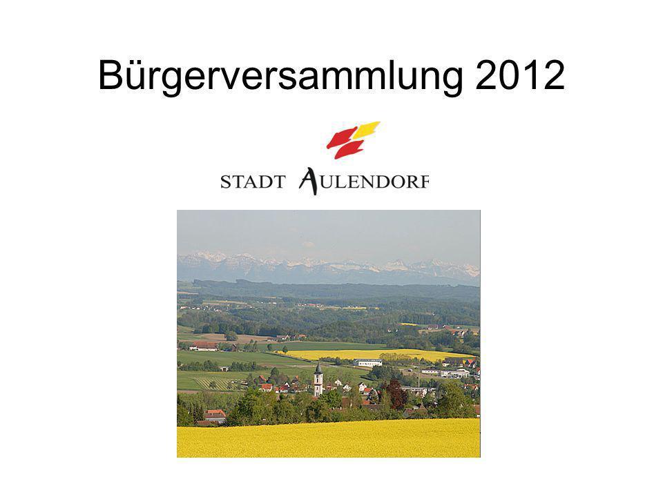Bürgerversammlung 2012