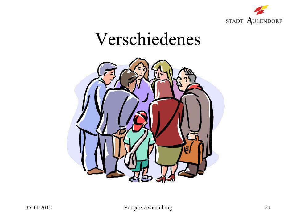 05.11.2012Bürgerversammlung21 Verschiedenes