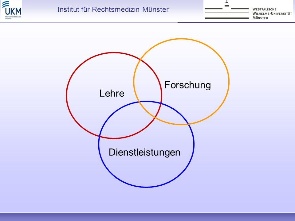 Lehre Forschung Dienstleistungen Institut für Rechtsmedizin Münster