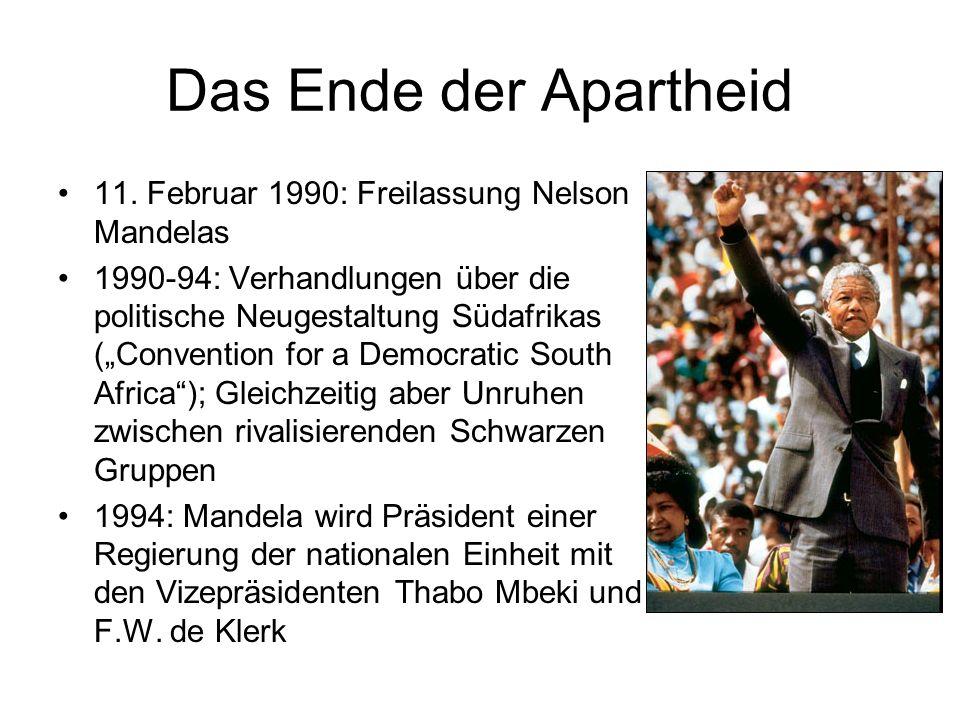 Das Ende der Apartheid 11.