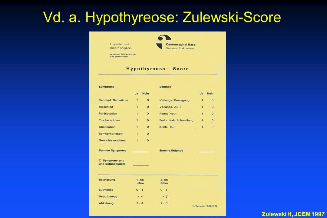Vd. a. Hypothyreose: Zulewski-Score Zulewski H, JCEM 1997