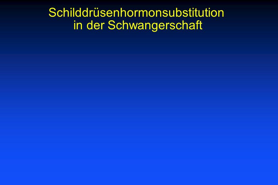 Schilddrüsenhormonsubstitution in der Schwangerschaft