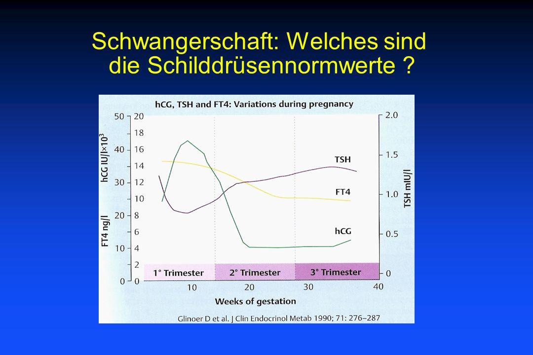 Schwangerschaft: Welches sind die Schilddrüsennormwerte ?