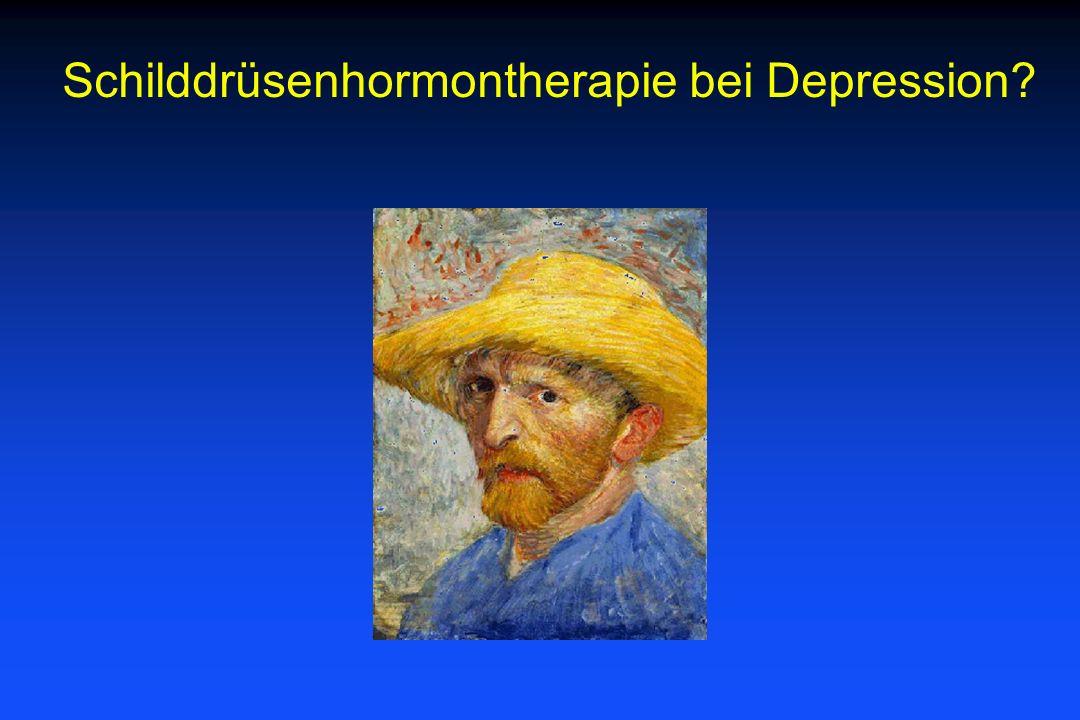 Schilddrüsenhormontherapie bei Depression?
