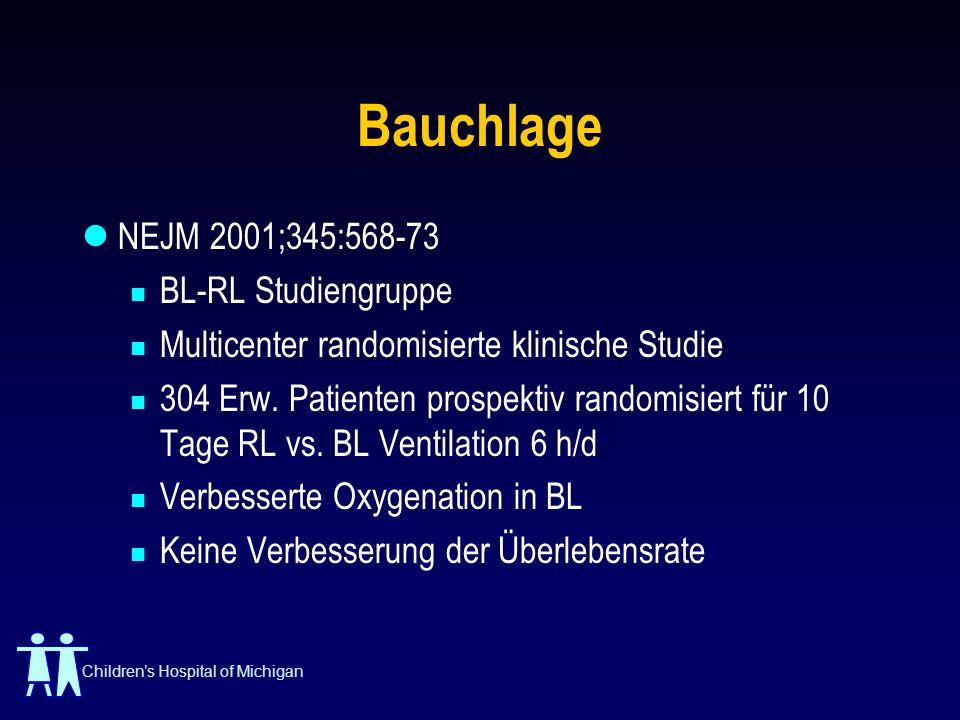 Childrens Hospital of Michigan Bauchlage NEJM 2001;345:568-73 BL-RL Studiengruppe Multicenter randomisierte klinische Studie 304 Erw. Patienten prospe