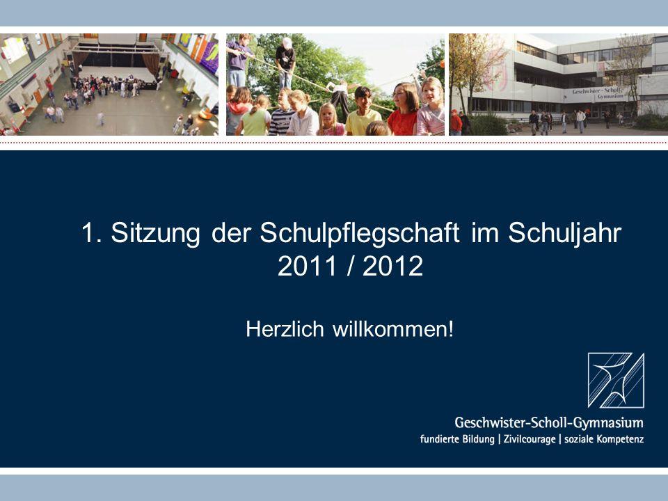 1. Sitzung der Schulpflegschaft im Schuljahr 2011 / 2012 Herzlich willkommen!