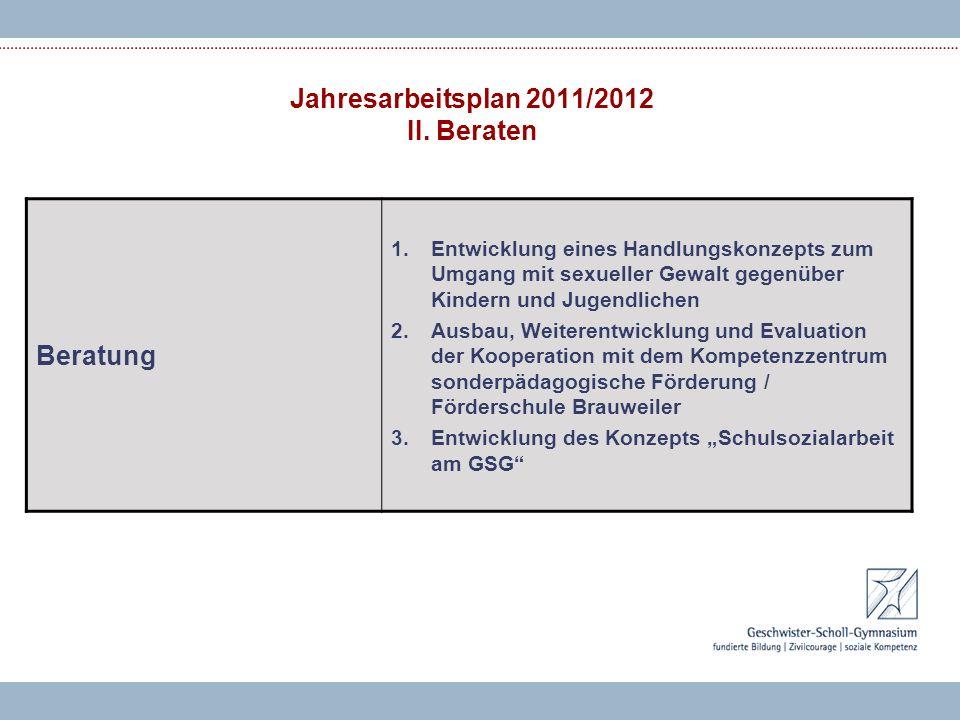 Jahresarbeitsplan 2011/2012 II.