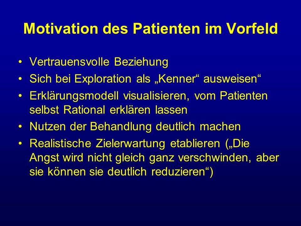 Motivation des Patienten im Vorfeld Vertrauensvolle Beziehung Sich bei Exploration als Kenner ausweisen Erklärungsmodell visualisieren, vom Patienten