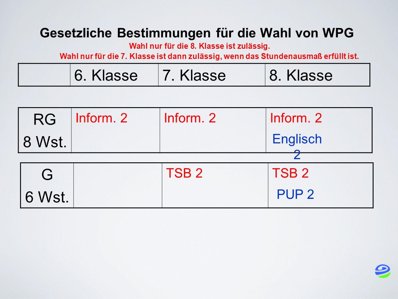 Gesetzliche Bestimmungen für die Wahl von WPG Wahl nur für die 8.