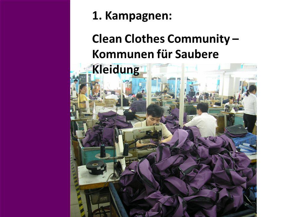 1. Kampagnen: Clean Clothes Community – Kommunen für Saubere Kleidung