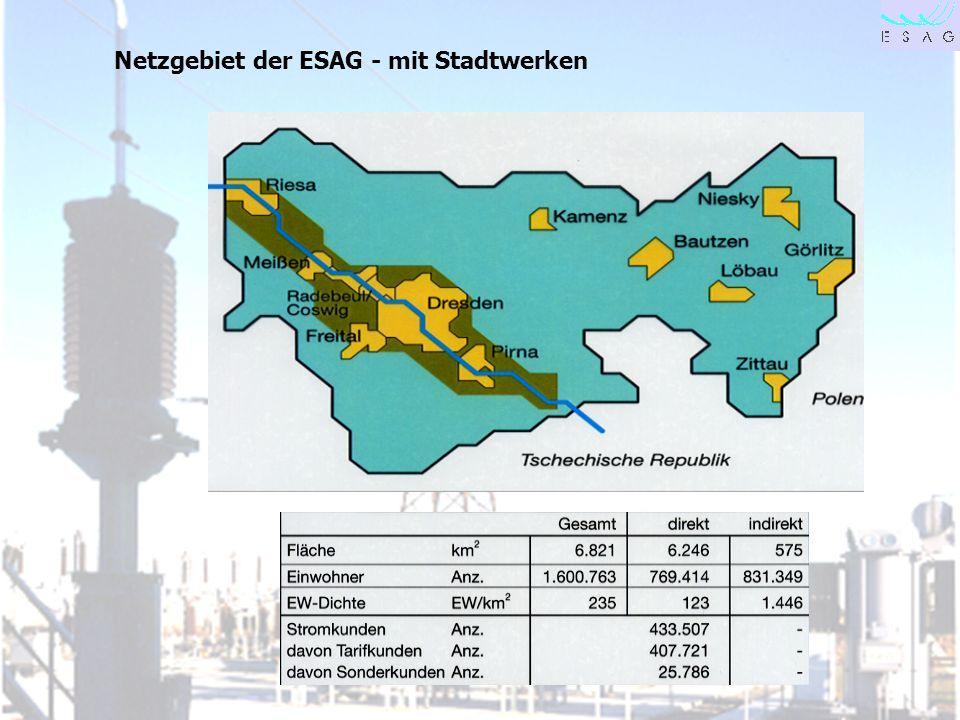 28.04.00 Seite 4 Netzgebiet der ESAG - mit Stadtwerken