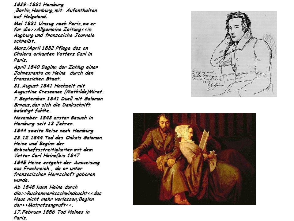1829-1831 Hamburg,Berlin,Hamburg,mit Aufenthalten auf Helgoland.