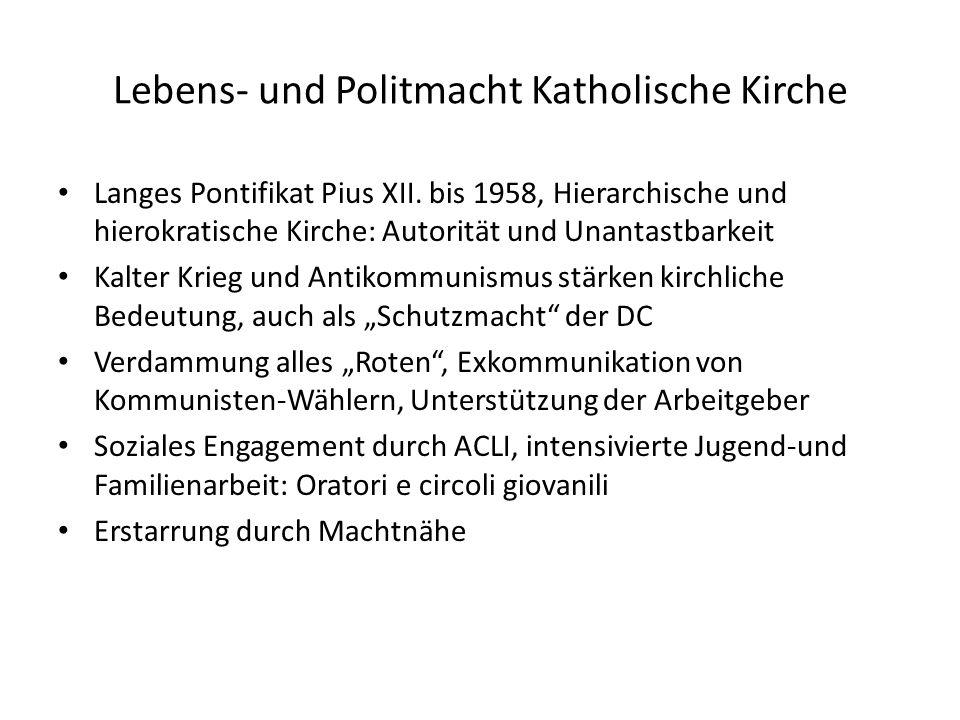 Lebens- und Politmacht Katholische Kirche Langes Pontifikat Pius XII. bis 1958, Hierarchische und hierokratische Kirche: Autorität und Unantastbarkeit