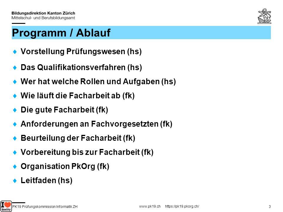 PK19 Prüfungskommission Informatik ZH www.pk19.ch https://pk19.pkorg.ch/ 74 Achtung – fertig – los!