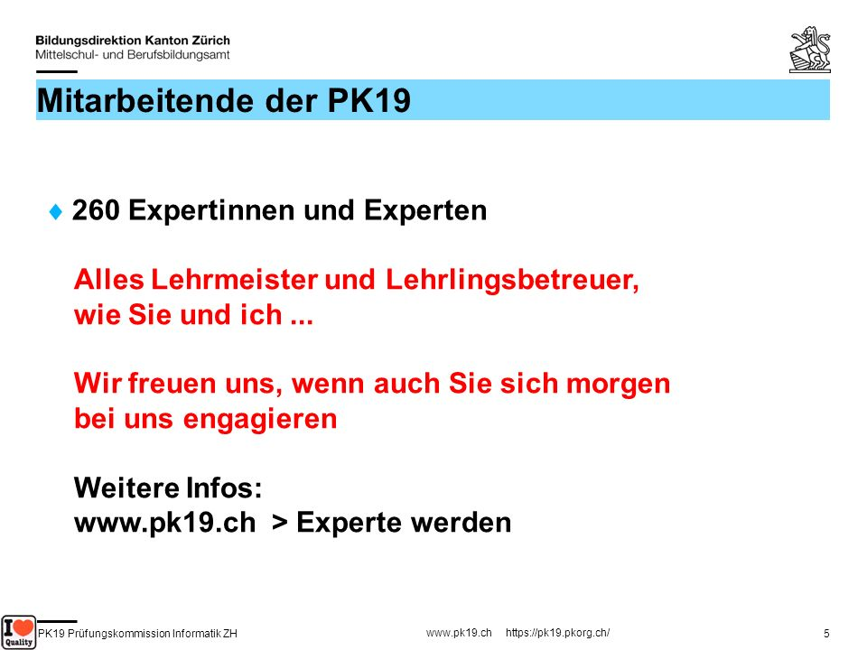 PK19 Prüfungskommission Informatik ZH www.pk19.ch https://pk19.pkorg.ch/ 26 FA: Präsentation & Fachgespräch Präsentation 15...