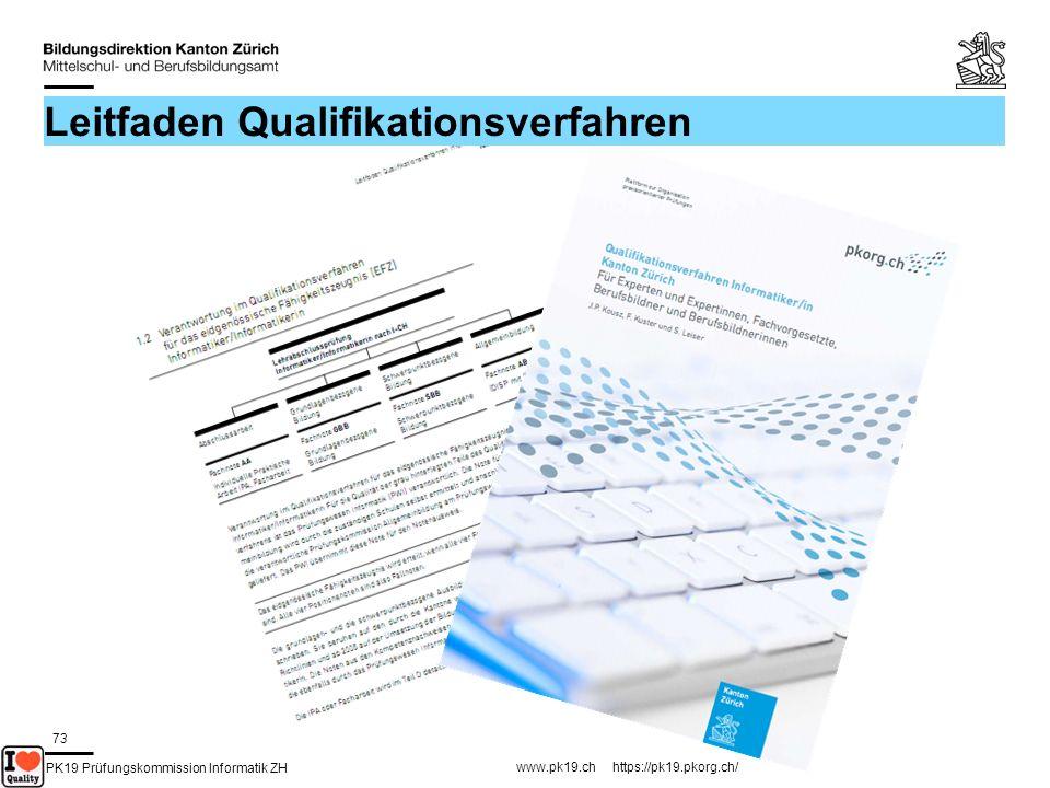 PK19 Prüfungskommission Informatik ZH www.pk19.ch https://pk19.pkorg.ch/ 73 Leitfaden Qualifikationsverfahren