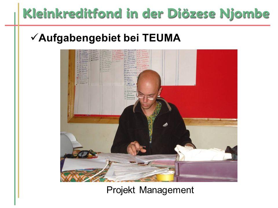 Aufgabengebiet bei TEUMA Projekt Management
