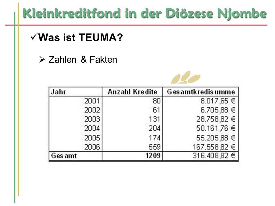 Was ist TEUMA? Zahlen & Fakten