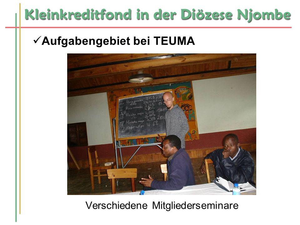 Aufgabengebiet bei TEUMA Verschiedene Mitgliederseminare
