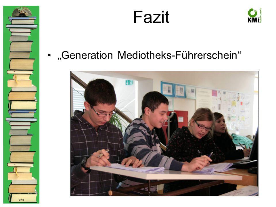 © ma Fazit Generation Mediotheks-Führerschein