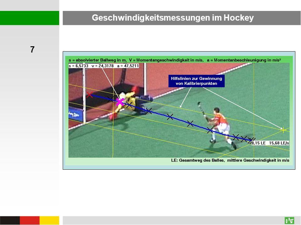 Geschwindigkeitsmessungen im Hockey 7