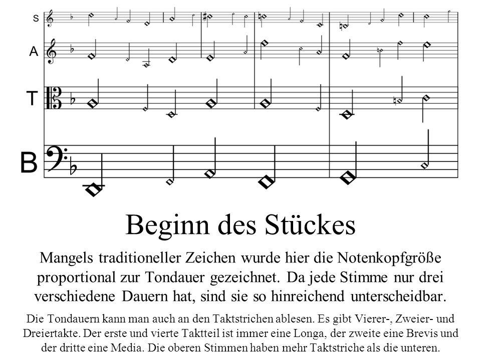 Fortsetzung: Das Sopran-Motiv wird im Alt und Tenor jeweils in rhythmischer Vergrößerung imitiert.