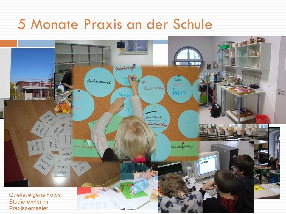 ein visueller Eindruck… 5 Monate Praxis an der Schule Quelle: eigene Fotos Studierender im Praxissemester