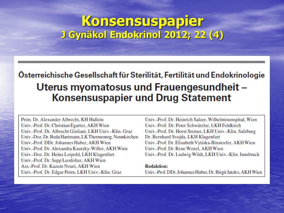 Konsensuspapier J Gynäkol Endokrinol 2012; 22 (4)