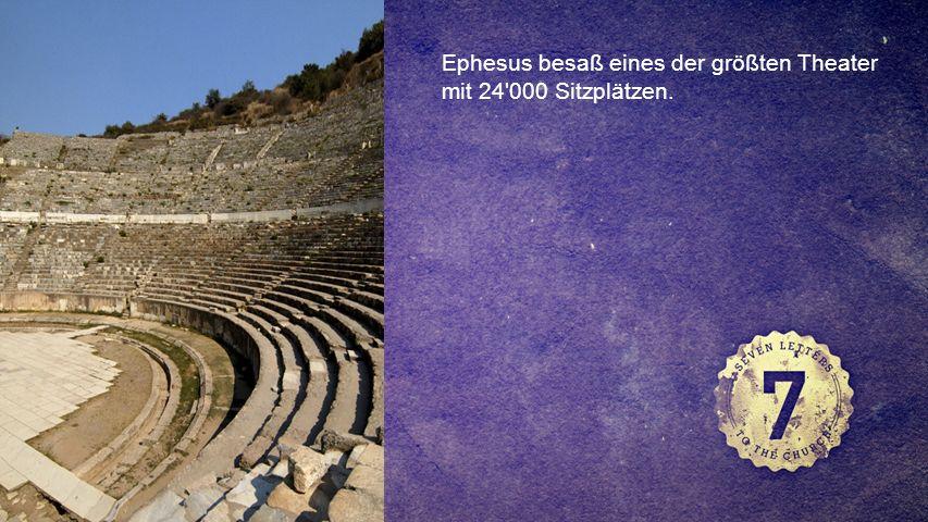 FOTOBACKGROUND Ephesus besaß eines der größten Theater mit 24 000 Sitzplätzen.