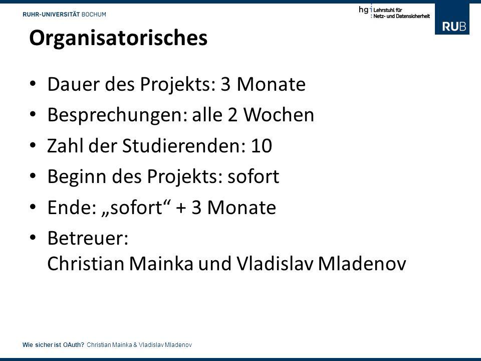 7 Wie sicher ist OAuth.Christian Mainka & Vladislav Mladenov Fragen.