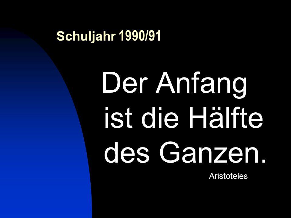 Schuljahr 2001/02 Was wäre das Leben ohne Hoffnung. Friedrich Hölderlin